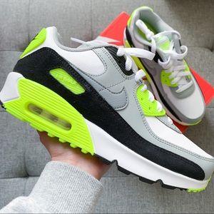 ⭐️Women Nike air max 90 white neon shoes hypebeast